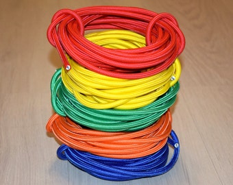 10-100meters (33-330ft) Fabric Covered Wire 2x0.5 20/2 AWG Textile cable Cloth covered wire Cloth cord Electrical cord Lighting cable