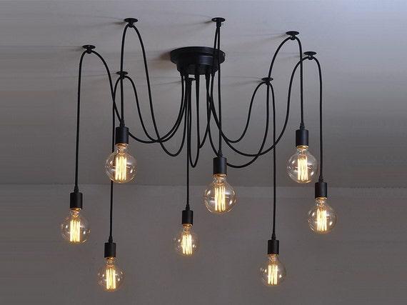 araign e lustre 6 12 pendentif industriel eclairage industriel. Black Bedroom Furniture Sets. Home Design Ideas