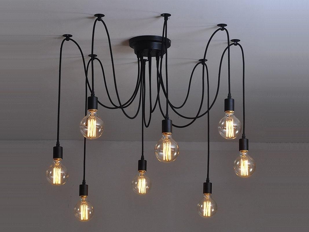 lustre 6 12 pendentif clair industriel eclairage industriel. Black Bedroom Furniture Sets. Home Design Ideas