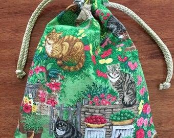 Feline Friends Drawstring Bag