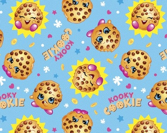 Moose Shopkins Cookie With The Look  Premium 100% Cotton fabric (SC25)