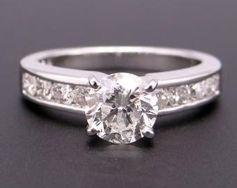 Dazzling 14k White Gold 1.30ct Round Brilliant Cut Diamond Engagement Promise Ring Size 5.5