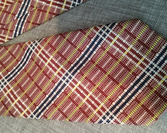 Johnny Carson Plaid Necktie