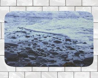 Beach Bath Mat | Memory Foam Bath Mat | Blue Bath Mat | Bathroom Rug |