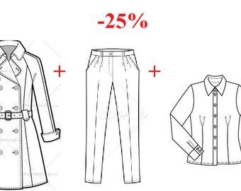 ON Sale 25% Set 1 Coat+1Classic pants+1Shirt for Tonner girl 16