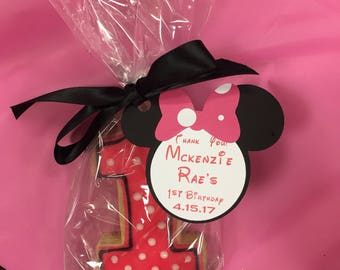 Minnie Mouse Tags (set of 6)