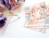 Rose Gold Marble Vertical Weekly Kit-- Matte Planner Stickers