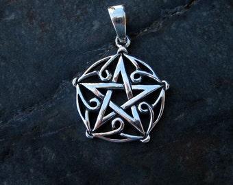 Sterling Silver Pentagram Pendant - #372
