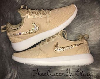 Womens roshe run two with swarvoski crystals!!