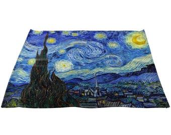"Vincent Van Gogh's Starry Night Linen Napkins 20"" x 20"", Set"