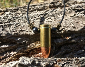 9mm Bullet Necklace - Brass