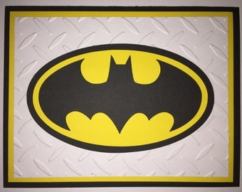Handmade Batman Birthday Card, Super Hero, Batman, Bat