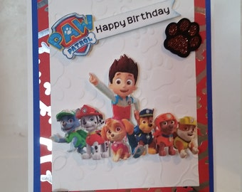 Unique, and very cool Paw Patrol Birthday Card