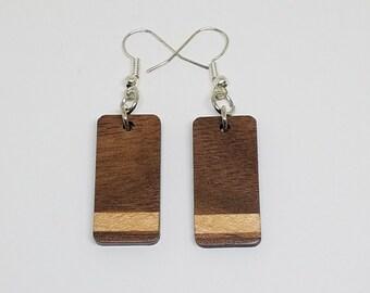 Walnut and Maple segmented earrings