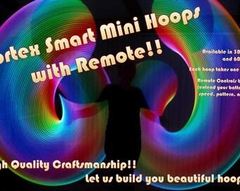 Led Mini Hoops - Vortex Mini Hoops - Smart Mini Hoops - LED hula hoops with remote