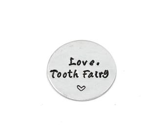 Tooth Fairy Wishing Coin, Customizable Aluminum Coin, Tooth Fairy Visit, First Tooth Keepsake, Coin Gift,Tooth Fairy Gift,Magical,Lost Tooth