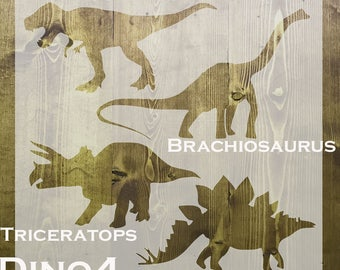 Dinosaurs Stencil Packs