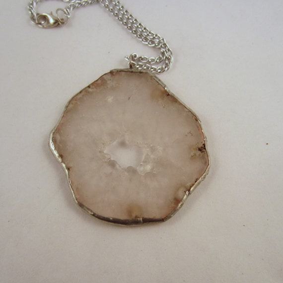 Agate  Necklace: rock Pendant,Agate gemstone
