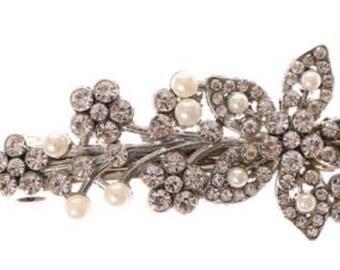 Wedding Bridal Jr Bride Flower Girl Prom Hair Jewelry Hair Alligator Clip flower