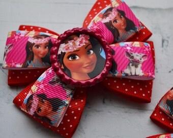 Moana party favors for kids Hair bows Moana birthday Gift for her Moana and Pua hair clip Disney Moana headband Baby hair accessories
