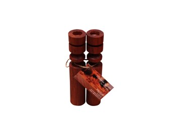 Hand Turned Padauk Candlestick Holder