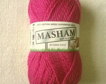 100% British Breed Superwash Wool Yarn, 1300 Raspberry