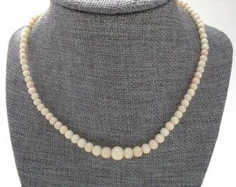Vintage Coral Necklace, Angel Skin Necklace, Coral Choker, Angel Skin Choker, Graduated Coral, Coral Necklace, Coral Bead Necklace