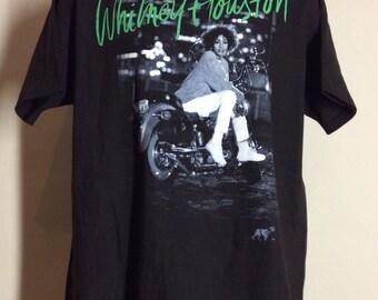Vtg 1991 Whitney Houston I'm Your Baby Tonight T-Shirt Black L/XL 90s Pop Music Hip Hop