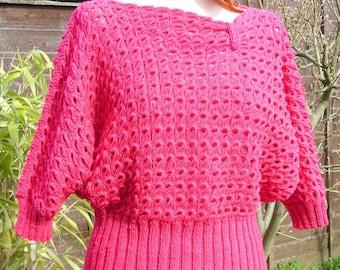 Amy - a broomstick crochet jumper pattern