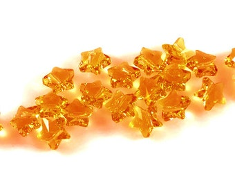 Swarovski Crystal 8mm Star Bead 5714 Topaz