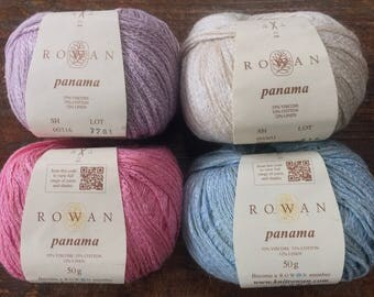 Sale! Rowan PANAMA 7.25 +.75ea Shipping - Viscose Cotton Linen Yarn Blush 318 Lavender 316 Blue 317 Cool, Sheen Drape. MSRP 11.95