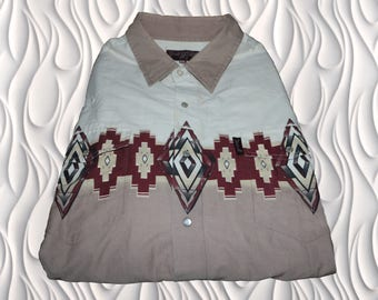90's BLUEDOG - XXL - Pearl Snap Country Western Shirt