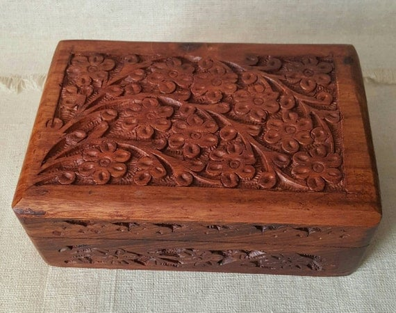 Flower Chest // Jewelry Box // Gift // Storage