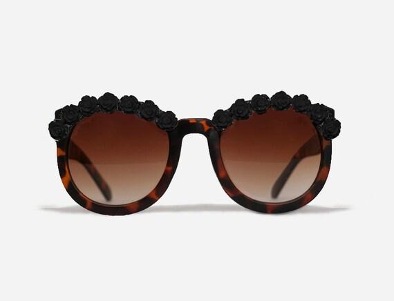 New York Tortoise Black Coachella Festival Sunglasses