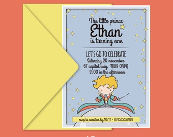 The Little Prince Printable Invitation | The Little Prince Party | Petit prince | Petit prince invite | The Little Prince Printable | Custom