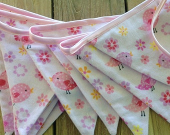 Nursery Bunting- Little Pink Bird.
