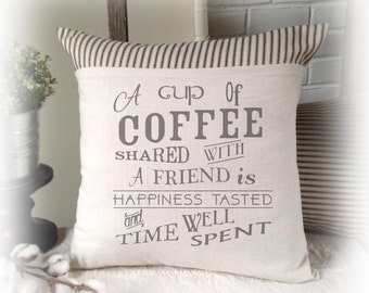 Coffee, Cup of Coffee, Frendship, Pillow Cover