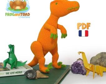Amigurumi Crochet Dinosaure Velociraptor Patron - PDF Français