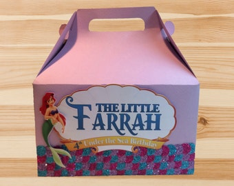 Little Mermaid Gable Box Custom Designed by InkSpireVe made with Premium Heavy Weight Cardstock