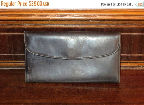 Football Days Sale Coach Combination Wallet/Checkbook Style No. 4730 In Black Leather