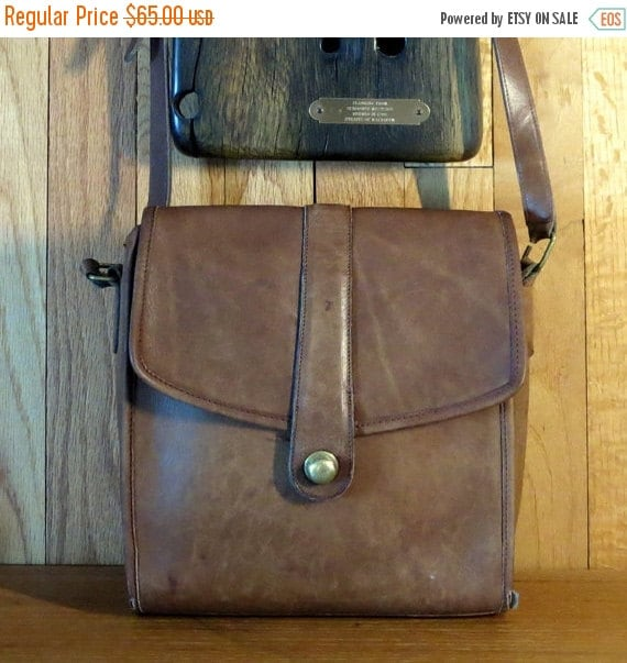 Football Days Sale Coach Scout Bag In Tabac Leather with Crossbody Strap- Made In U.S.A. Beautifully Distressed