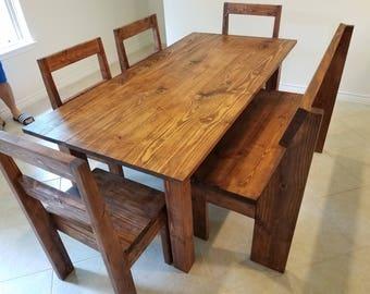 Rustic Farmhouse Dining Set
