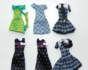 Original Monster High and EAN doll dresses from different collections