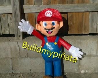 """Mario pinata, 3D, 26"""" tall."""