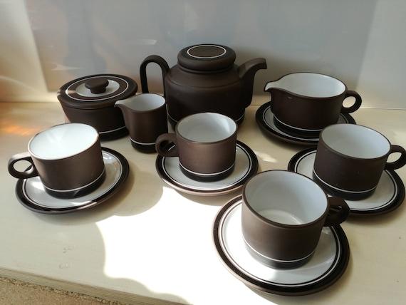 Hornsea contrast, coffee and or tea set, tundra