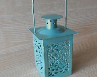 Set of 10 Mini Lanterns,Wedding Candle Holders, Wedding Centerpiece ,Moroccan Mini Lanterns ,Rustic Lantern, Home Decor, Beach decor