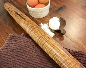 French rolling pin, rolling pin, tapered rolling pin, turned pin, baking pin, wood rolling pin, handturned rolling pin, handmade rolling pin