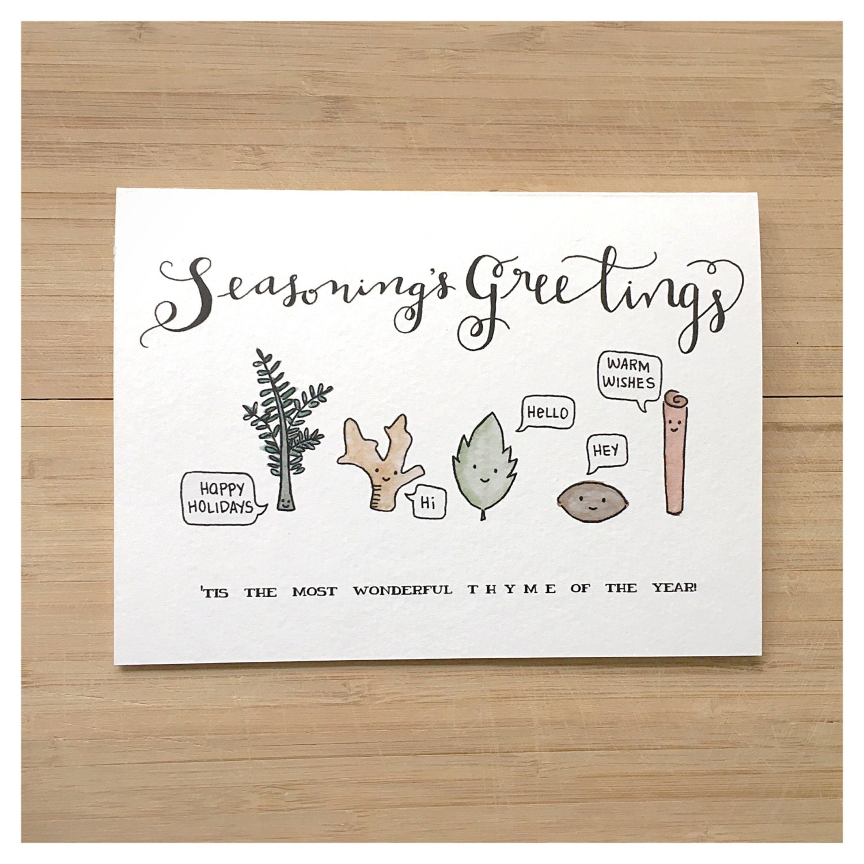 SEASONS GREETINGS christmas card holiday card funny christmas – Holiday or Seasons Greetings Invitation Cards