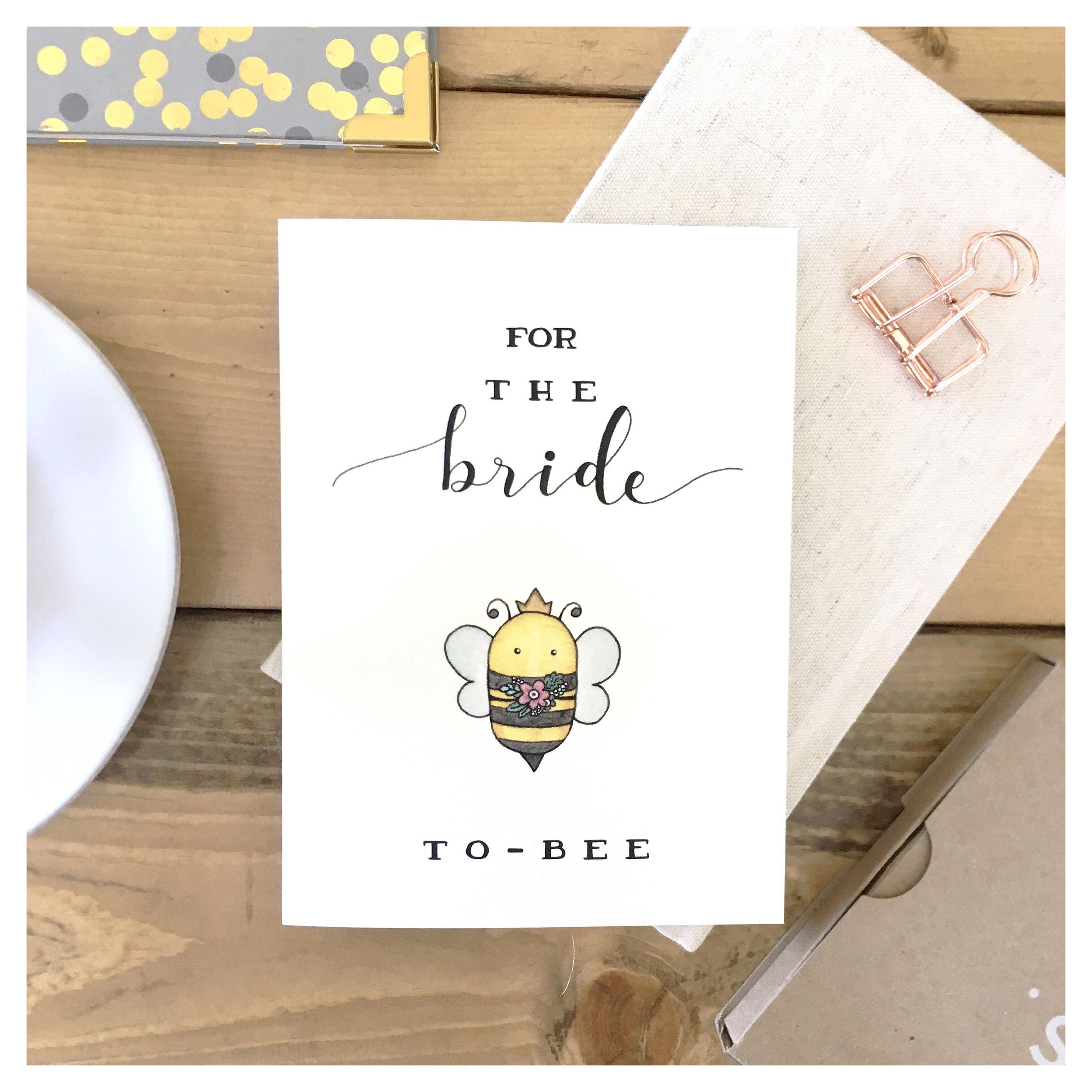 BRIDE TO BE Card For Bride Wedding Bridal Shower Funny Cute