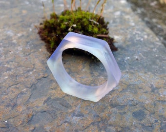 3D printed UV fluorescent hex nut ring